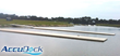 AccuDock Low Profile floating docks recently installed at Nathan Benderson State Park's rowing venue