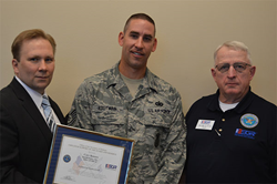 eFORCE Software CEO, Cory Bowers, receives the Patriot Award
