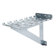 Each HD Clamp Rack features six clamp slots on each side  -  each slot can accept either a pipe clamp or a parallel clamp.