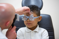 An Orange County child receives a comprehensive eye exam at MBKU's University Eye Center at Fullerton