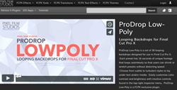Pixel Film Studios ProDrop Low Poly Plugin.