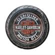 Harley-Davidson® Motor Oil Wooden Barrel Sign