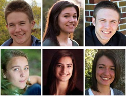 Image of 2015 SME Education Foundation Scholarship winners: Bibik, Hoying and Mercy. And 2015 Gene M. Nelson Directors Scholarship winners: Fundenberger, Scheppers and Taylor.