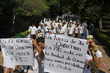 Hundreds of youth march for human rights in Queretaro, Mexico