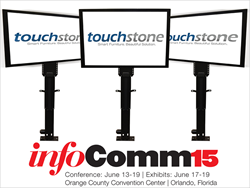 InfoComm15 attendees will see the new Touchstone Pro Advanced TV Lifts in action at Booth 6758.