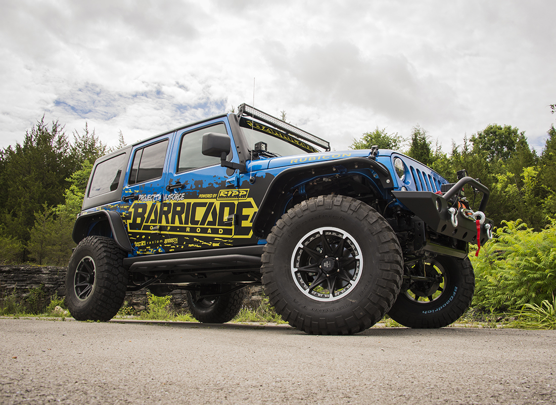 Extremeterrain And Barricade Off Road To Unveil Their Fully Built Jeep Wrangler Jk Accessories 2015 Rubicon Project Trail Force2015 Force