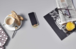 DuPont Corian® Charging Surface - Device with Case