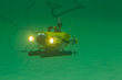 Unmanned underwater vehicle is demonstrated at the Expo.