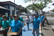 Armed with bullhorns and boxes of The Truth About Drugs booklets,  volunteers promote drug-free living in the center of San Jose, Costa Rica.