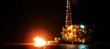 CEG Holdings, LLC. - Offshore Drilling Project in Galveston Bay, Texas - Night View
