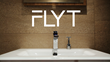FLYT logo and Solo Stand with razor on sink