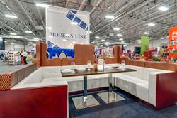 Presenting a custom-USA-made modular VIP booth seating.