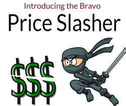 The Bravo Price Slasher will automatically discount your inventory.