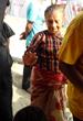 A Nepal earthquake survivor post treatment.