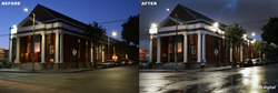 Pico Union Project Before and After LED Lighting
