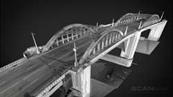 3D Mesh created from a Laser Scan of the 6th Street Bridge of the LA River in Los Angeles, California