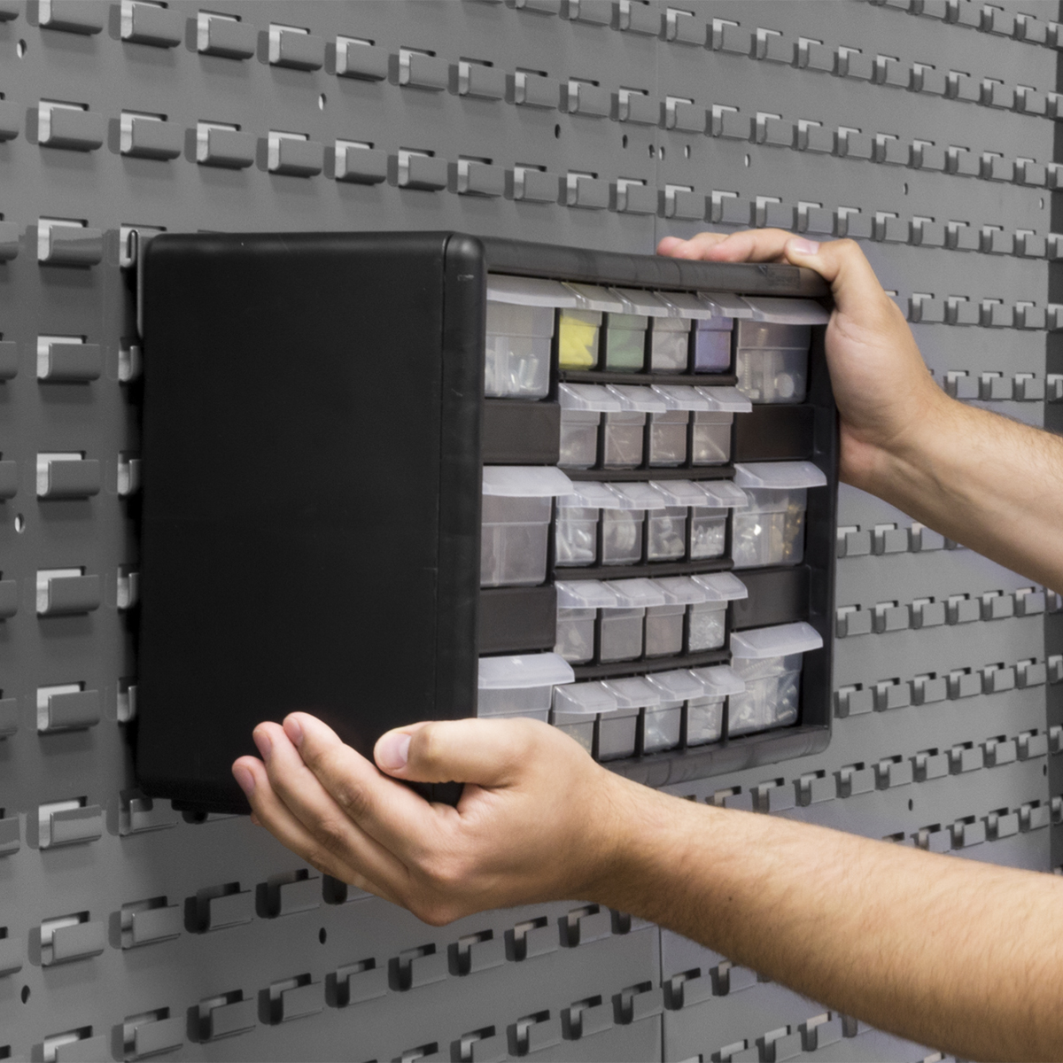 New from Akro-Mils: Bracket for Plastic Storage Cabinets
