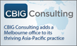CBIG Consulting Expands Asia-Pacific Consulting Operations with the Addition of a Melbourne Office