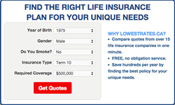 Life Insurance Quote Comparison New Lowestrates.ca Launches Life Insurance Quote Comparison Service