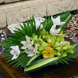 Orchids. Summer flower centrepieces designed by Flowers24hours. Flower arrangement for same day flow