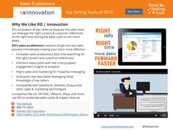 RO Innovation Top Sales Tool of 2015