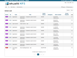 a screenshot of the Ekualiti KFS modern and intuitive user interface