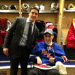 Ryan McDonagh, who was honored with a Burke Award on June 16, has forged a friendship with Burke patient Gino Mangiafridda