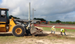 Hellas Construction Crew at Freer ISD's Buckaroo Stadium
