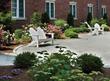 Courtyard garden at Hotel Viking in Newport, Rhode Island