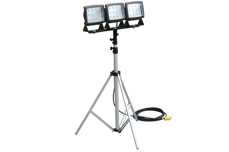 Larson Electronics Releases Triple Headed Portable Led Flood Light On Telescoping Tripod