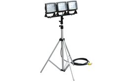 120 Watt LED Work Light Mounted on a 3'-10' Telescoping Tripod