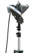 Three 40 Watt LED Flood Lights on a Telescoping Tripod