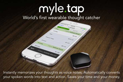 MYLE TAP wearable thought-catcher digital assistant actions notes mobile application smartphone
