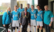 Mayor of Lambeth with Drug Free London players and supporters