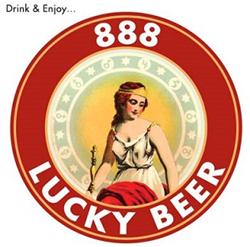 888 Lucky Beer Logo