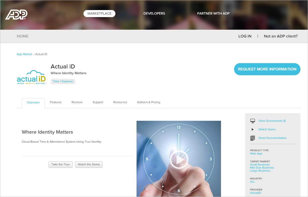 Actual Id Joins Adp Marketplace To Offer Cloud Based Time