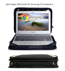 Laptop Bag for Chromebooks with Back Zipper