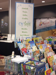 "Oy Toys ""on the road"" at a conference"