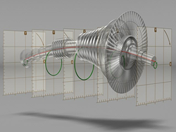 Mobius Institute 3D animation of a flexible steam turbine rotor