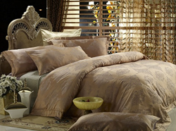 Golden Age King Sized Jacquard Cotton Bedding Set DM444k from Dolce Mela