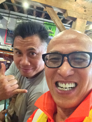 Master DeRu with his Student Cung Le in New Orleans