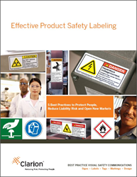 Clarion's Whitepaper on Effective Product Safety Labeling