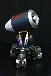 Exhibition Demonstration: Model of the SL-3 Vostok Rocket atop the HOMER Robot