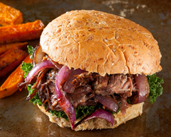 4th of July Cider Braised Short Rib Sandwich