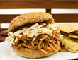 4th of July Memphis Blues BBQ Pulled Pork Sandwich