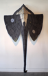 """Wendy Maruyama, """"Satao"""" (front view), 2014. Wood, string, paint. Photo courtesy the artist."""