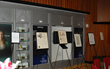 Proclamations honoring the New York chapter of the  Foundation for a Drug-Free World on display in the theater of the Church of Scientology New York.