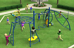 3D Render of the Contest Playground