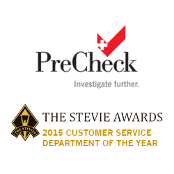 PreCheck Wins 2015 Gold Stevie Award for Customer Service Department of the Year