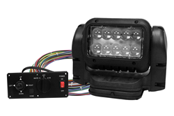 Visible and Infrared LED Light Emitter Operated by a Hard Wired Dash Mount Remote